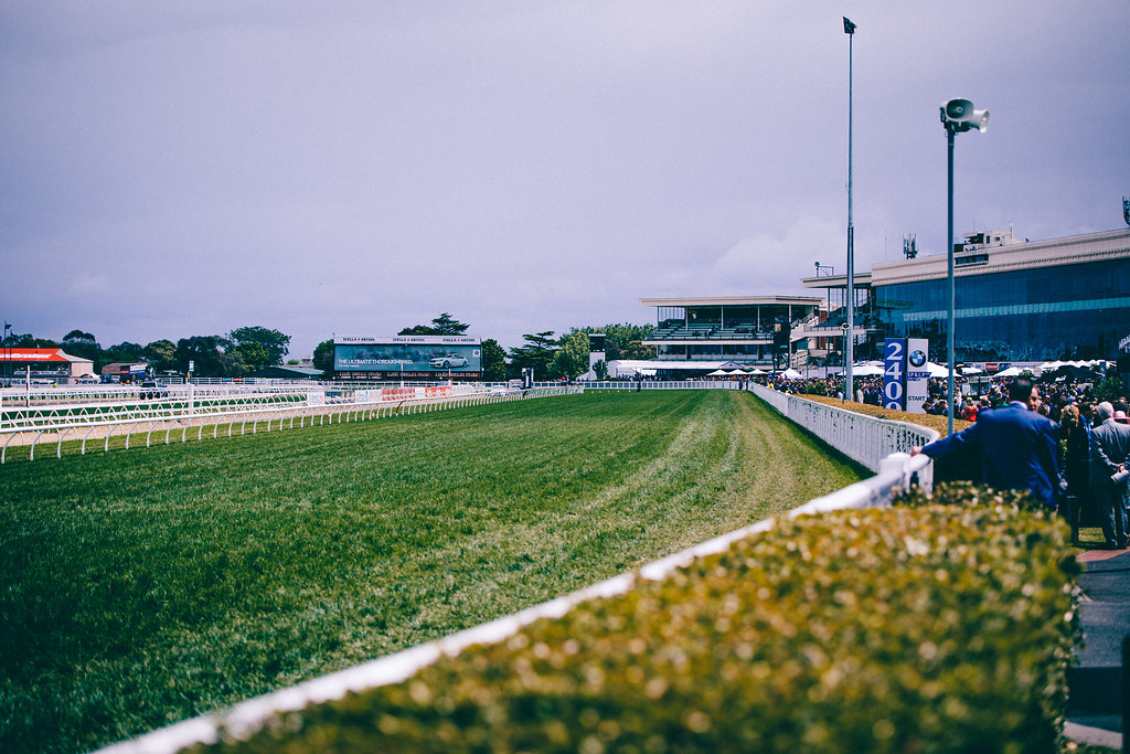 Racing turf at Caulfield Cup in Melbourne