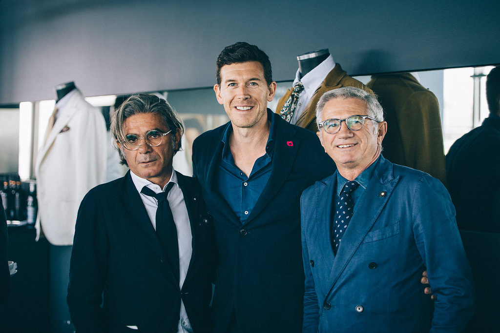 Luigi and Andrea Lardini at Harrolds x Lardini event