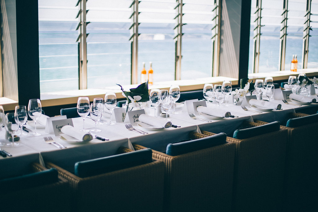 Icebergs Dining & Bar Bondi Beach set up for Harrolds x Lardini event